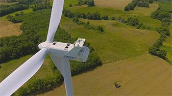 Drone eolienne